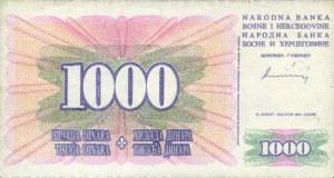 BOSNIA1000DINARS1994AV