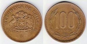 Chile100pesos1992