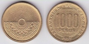 Columbia1000pesos1996-+